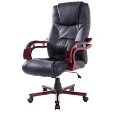 adjustable office chairs. HOMCOM PU Leather Adjustable Office Chair-Black/Brown Chairs