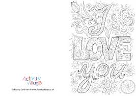 Small Picture Mothers Day Colouring Cards