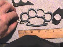 Wooden Knuckles Brass Knuckles Made With Scrap Metal From Knife Making Single