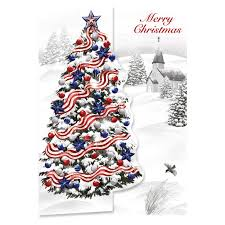 personalized patriotic tree cards set of 20