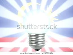 the light in spanish light bulb in a light bulb illuminating the flag for the concept the light in spanish
