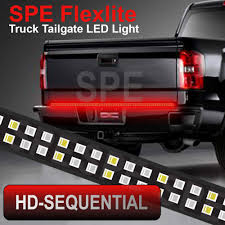Truck Tailgate Lights Sequential Turn Signals Truck Tailgate Light Bar Strip 2 Row Ip68 Brake Turn Signal Running Reverse Backup Waterproof Led Flexible