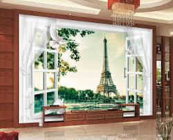Großhandel Hohe Qualität Costom Paris 3d Fenster Und Türen Vorhänge