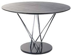 eurostyle stacy pedestal round dining table w black marble base