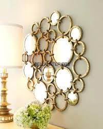 wall decor uk mirror wall art new metal gold mirror ring circles wall art modern best