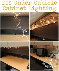 cubicle lighting. totally doin it diy under cubicle cabinet lighting burlapanddenim n