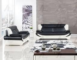 american eagle ae209 bk w modern 2pcs black white leather sofa set loveseat