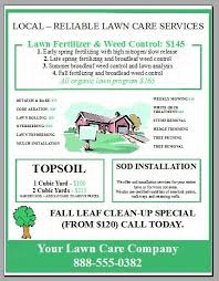 lawn care advertising templates lawn mowing flyer template 3 ways to advertise lawn care wikihow
