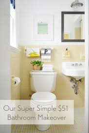 Cheap Bathroom Makeover Inspiration Cheap Charming Our 48 Bathroom Makeover Young House Love