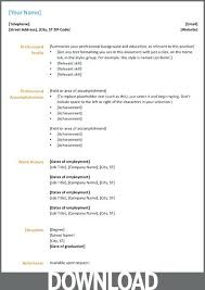 Microsoft Office Resume Ms Microsoft Office Resume Templates 2015