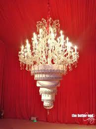 suspended upside down chandelier cake
