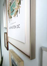 floating wall framing how to float mount pictures in a frame via little house big city