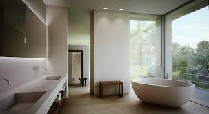 modern master bathrooms. Bathroom:Dazzling Open Master Bathroom With Modern Bathtub And Large Glass Windows Bathrooms E