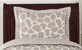 giraffe pillow sham by sweet jojo designs