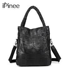 <b>iPinee 100</b>% <b>Genuine</b> Leather Bags <b>Real</b> Sheepskin Women ...