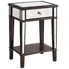vegas white glass mirrored bedside tables. Hayworth Nightstand Espresso I Pier 1 Regarding Black Mirrored Plans 11 Vegas White Glass Bedside Tables V