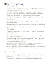 Database Analyst Job Description Sales Analyst Job Description