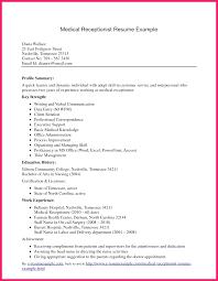 Receptionist Resume Sample Bio Letter Format