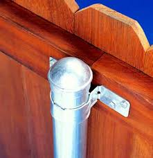 Image result for wood fencing with metal posts