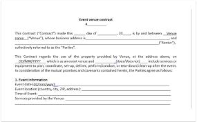 Venue Contract Template Event Venue Contract Template Download A Free Pdf Venue
