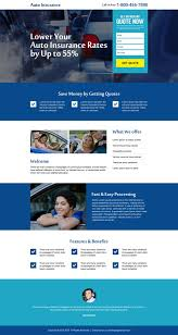 best landing pages to capture auto insurance leads and s 2016 landing page design templates