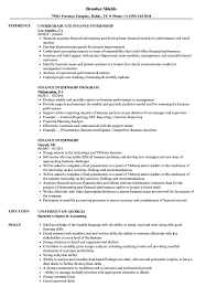 It Internship Resume Samples Finance Internship Resume Samples Velvet Jobs
