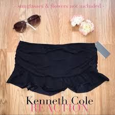 Kenneth Cole Swim Skirt Skirted Bikini Bottom Nwt