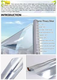 mirror film. 78% heat insulation one way vision solar silver mirror film m