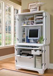 marvelous computer desk cabinet computer armoire white wooden desk with drawers shelves monitor keyboard