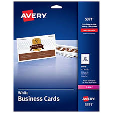 Avery Template 8371 Business Card Avery Printable Business Cards Laser Printers 250 Cards 2 X 3 5 5371