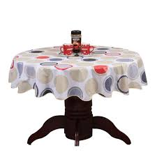 past round table cloth pvc plastic table cover flowers printed tablecloth waterproof home party wedding decoration