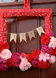 valentine wreaths for your front doorValentines Day Wreath Tutorial  Teach Love Craft