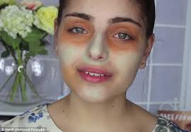 colour your blemishes melbourne make up artist heidi hamoud used green and orange