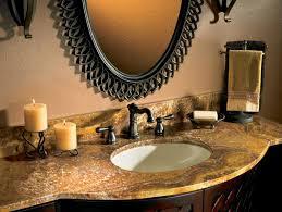 luxury bathroom interior with chocolate countertop and brown vanity vanity countertops idea