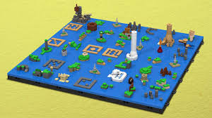 The Legend Of Zelda The Wind Wakers Sea Chart As A Lego