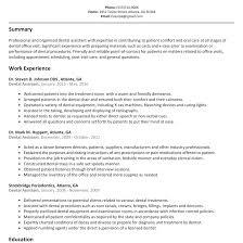 Resume For Dental Assistant Job Dental Hygienist Resume Fungramco 99