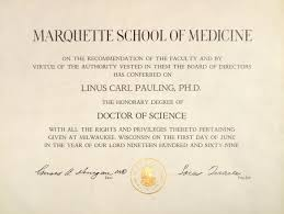 Marquette School Of Medicine Honorary Doctor Of Science Diploma