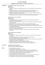 Mechanical Engineer Resume Example Template Design Sample Doc