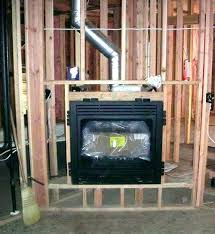 vented fireplace insert s gas inserts vs ventless non logs home depot