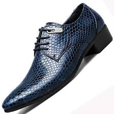 New Imitate Snake Leather <b>Men</b> Oxford <b>Shoes</b> Lace Up Casual ...