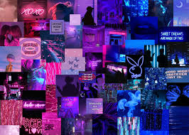 Blue Aesthetic Backgrounds Collage ...