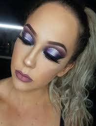 glamorous makeup close