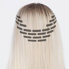 Tape On Hair Extensions Attachmebt Step By Step Rapunzel