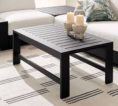 malibu metal coffee table black
