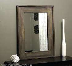 rustic wood mirror frame. Rustic Wood Framed Mirrors Decorative Wall Frame Wooden  Mirror