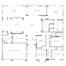 4 bedroom house plans one story one story 4 bedroom house floor plans 5 bedroom ranch
