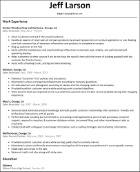 Resume Examples For Retail Associate Sales associate Resume Sample Of Sales Clerk Functional Resume 7