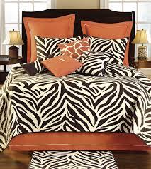 zebra orange tan queen dust ruffle