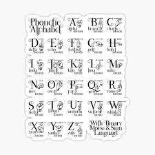 Wikipedia has tons of comprehensive information, but can be confusing to a beginner. Nato Alphabet Stickers Redbubble