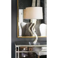 Ivory Horn Table Lamp Pfeifer Studio